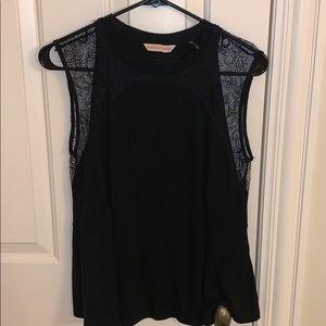 Rebecca Taylor size small black lace shirt